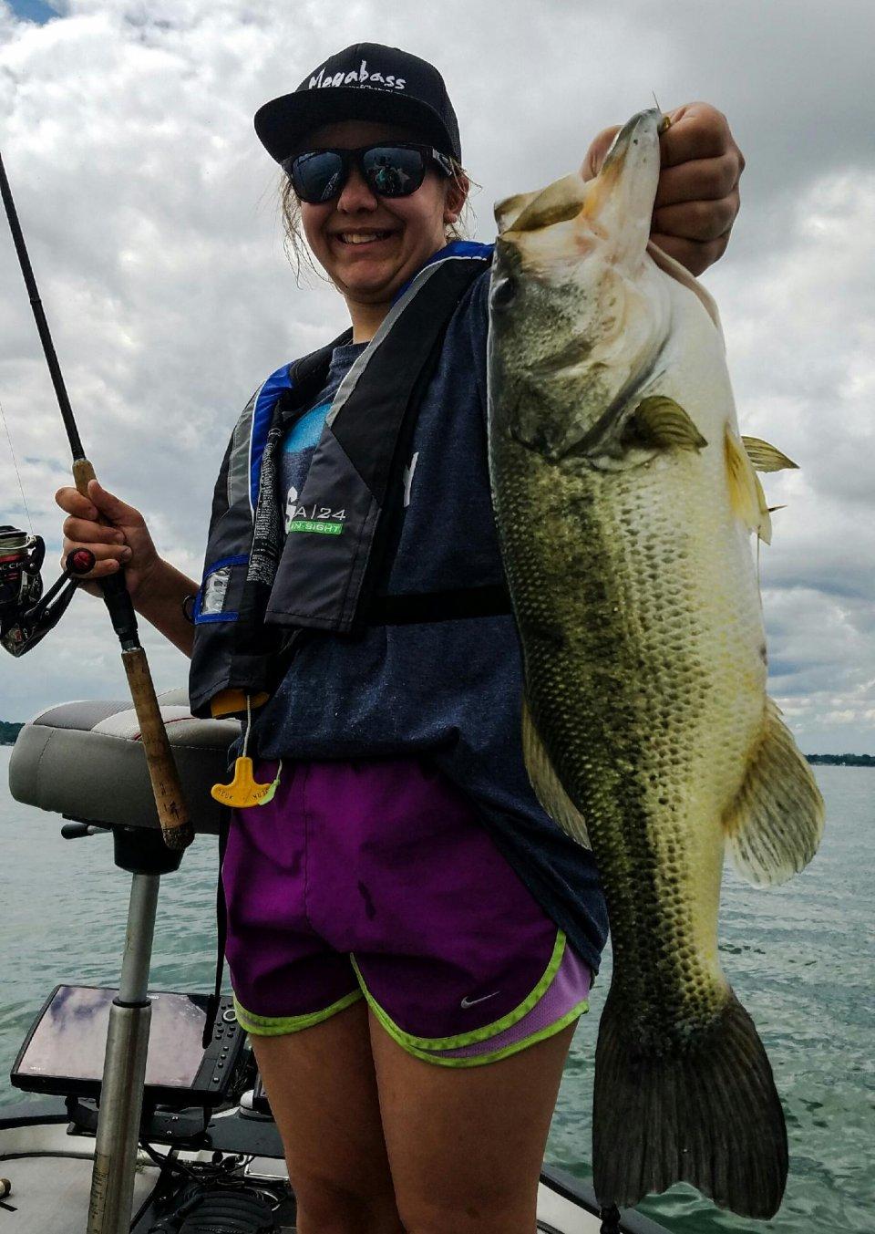 13 year old Lauren Bentz's catch Saturday on Cayuga lake near Aurora. Photo by Laura Bentz