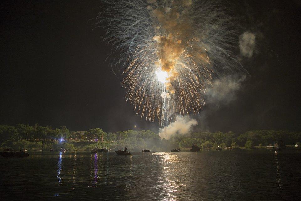 Fireworks over Seneca Lake
