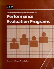 Cover of: The Personnel Manager's Handbook of Performance Evaluation Programs | S. E. Parnes